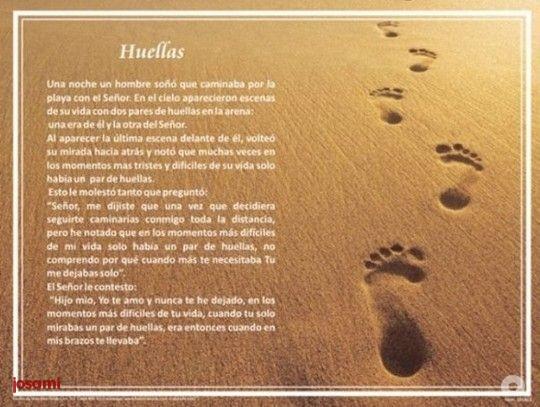 Poema De Huellas En La Arena